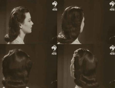 1940s Wartime Hairstyles by 1940s Hairstyle American Wartime Hairdos 1944 Glamourdaze