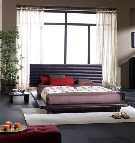 chambre noir et gris lit style japonais en rotin brin d 39 ouest