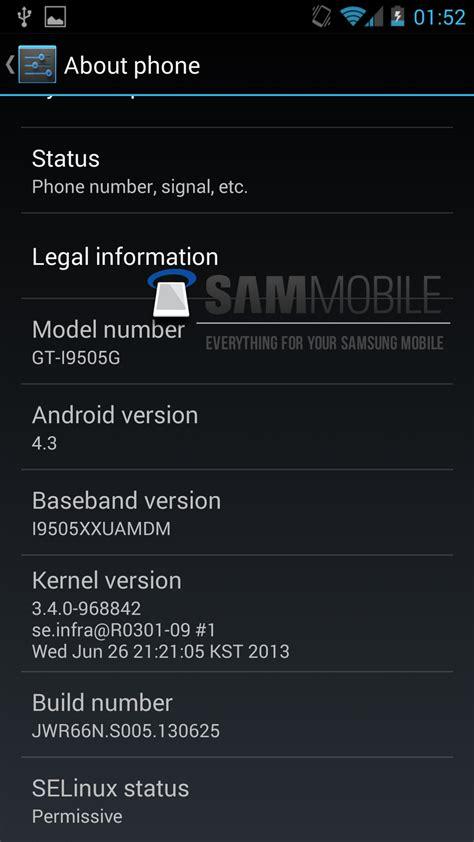 android 4 3 android 4 3 aparece en un samsung galaxy s4 edition
