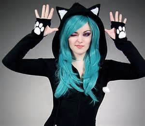 cat hoodie with ears black cat hoodie ears animal kitty from papercatspl on