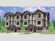 Townhouse Townhome & Condo Home Floor Plans Bruinier