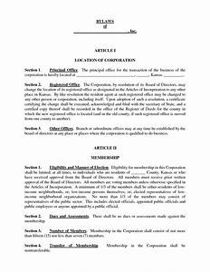 corporate bylaws template word popular samples templates With corporate bylaw template