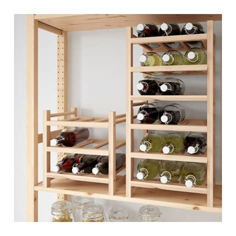 wine rack hutten 9 bottle wine rack solid wood ikea Ikea