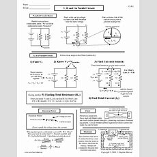 V, R, And I In Parallel Circuits Worksheet For 10th  Higher Ed  Lesson Planet