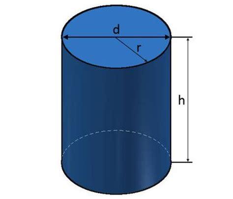 zylinder berechnen von flaeche und volumen  zylinder