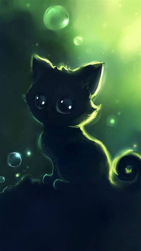 animals art  kitty cat  huge eyes cats