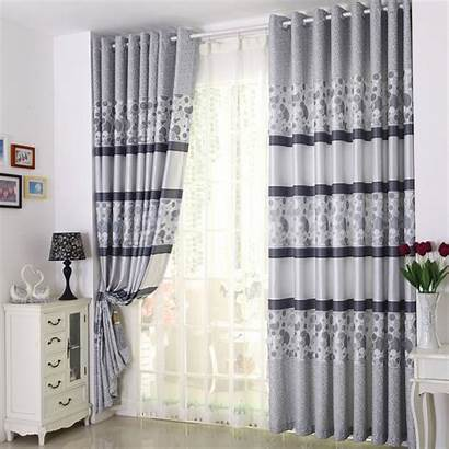 Curtains Drapes Modern Gray Patterned
