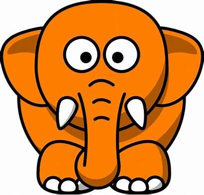 Orange Elephant Clker Clip Clipart Hi Cliparts