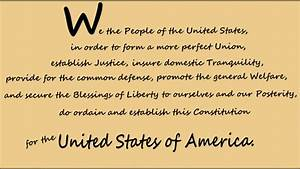 Memorize The U S  Constitution  Preamble