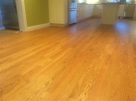 "3 1/4"" Select Red Oak hardwood flooring with Loba 2K"