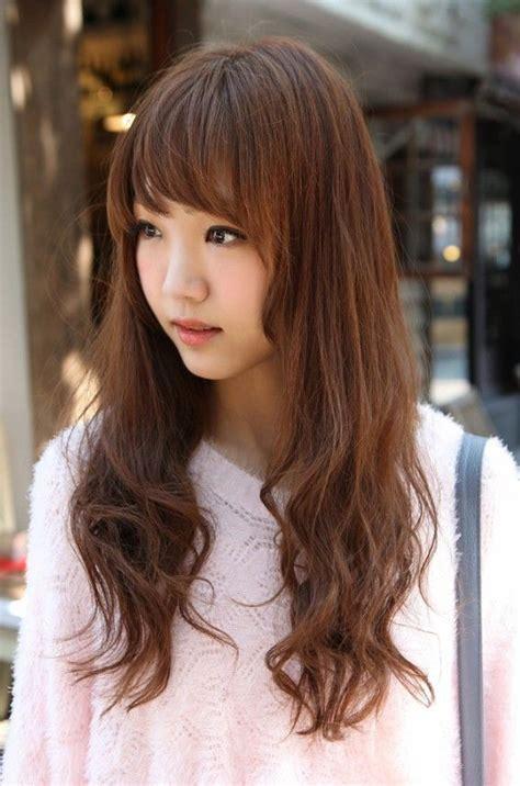 korean girls long hairstyle  women long hairstyles