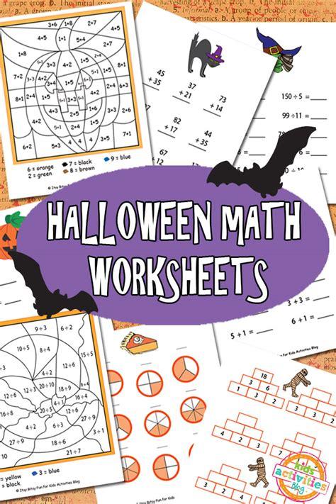 halloween math worksheets free kids printable