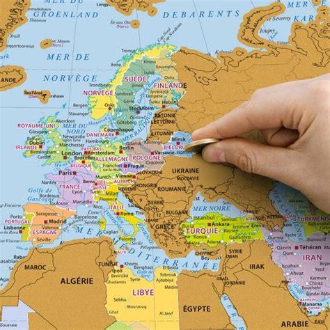Carte Du Monde Francais by Carte Du Monde 224 Gratter Planisph 232 Re En Fran 231 Ais Cadeau