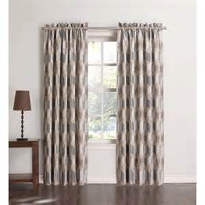 sun zero atticus room darkening woven curtain panel