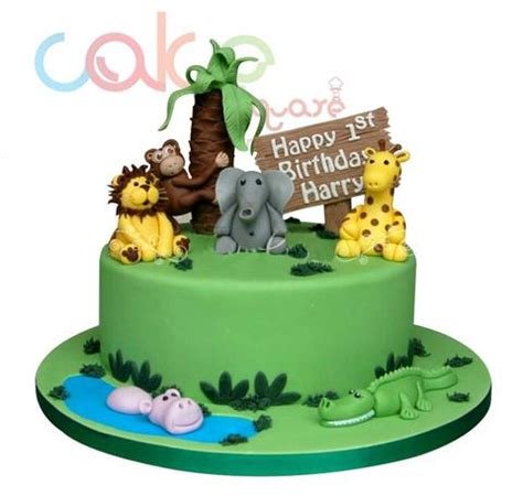 odc jungle themed st birthday kg designer cakes