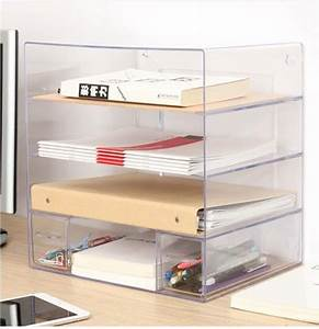 transparent combination of multi document holder office With document storage racks