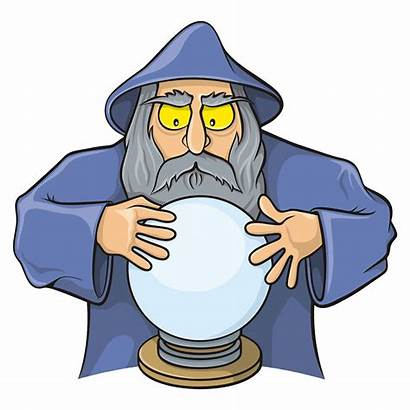 Wizard Ball Magic Cartoon Clipart Crystal Boule