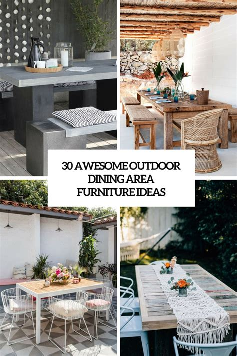 Outdoor Dining Furniture Ideas by 30 Awesome Outdoor Dining Area Furniture Ideas Digsdigs