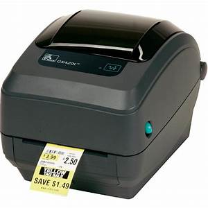 zebra gk420t thermal transfer desktop label printer am With install zebra printer