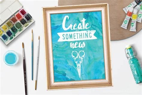 Create Something New Free Printable Wall Art