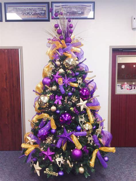stepped   decorating skills  year purple  gold christmas tree diy purple