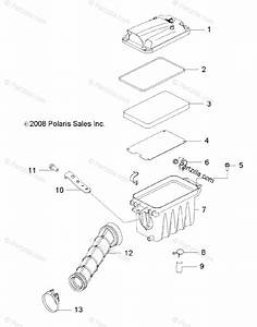 Polaris Side By Side 2009 Oem Parts Diagram For Engine  Air Intake System