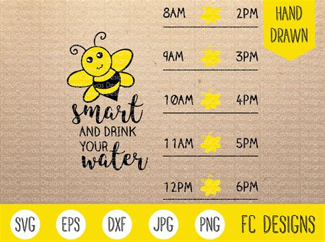 water tracker svg etsy bee smart drink your water svg water tracker water level etsy