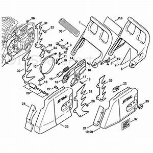 Stihl Ms 460 Chainsaw  Ms460 D  Parts Diagram  Chain Brake