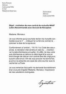 Resiliation Contrat Auto : lettre de r siliation mutuelle maaf mod le de lettre ~ Gottalentnigeria.com Avis de Voitures