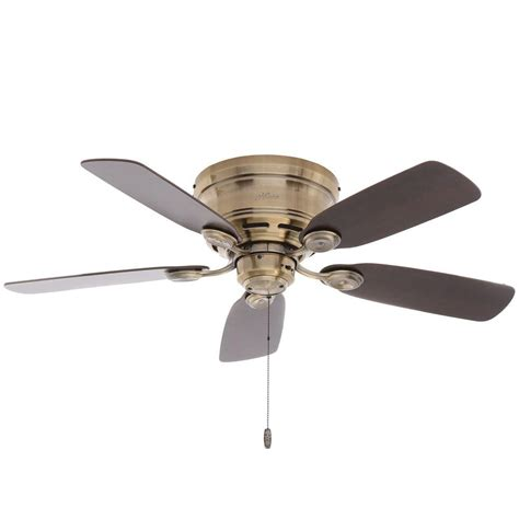 Low Profile Ceiling Fan Home Depot by Low Profile 42 In Indoor Antique Brass Ceiling Fan