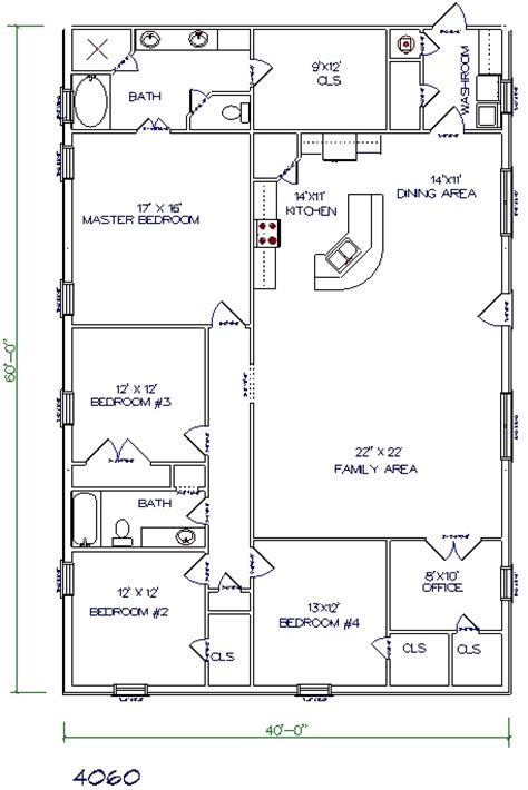 40x60 barndominium floor plans 30 barndominium floor plans for different purpose