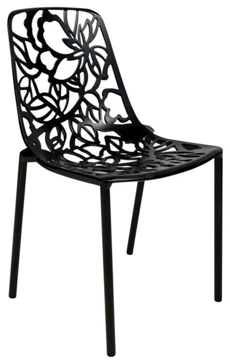 leisuremod modern aluminum chair armless in black