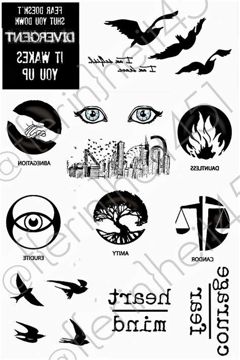 Bringing Up Burns: Divergent Premiere Party Ideas - DAUNTLESS - tattoo printable for ink jet