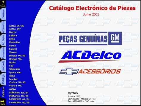 manuales de mecanica automotriz by autorepair soft catalogo de repuestos chevrolet