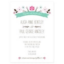 wedding invitation sle wording folksy floral invitation sle crafty pie press