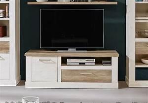 Tv Board Weiß Eiche : tv unterschrank duro lowboard tv board pinie wei und eiche antik ~ Buech-reservation.com Haus und Dekorationen