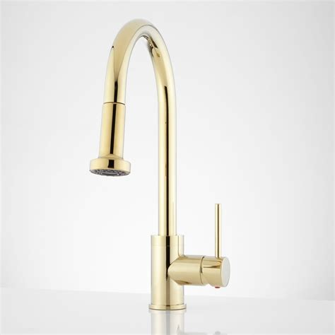 Brass Faucet Kitchen by 156 Bainbridge Single Pull Kitchen Faucet With