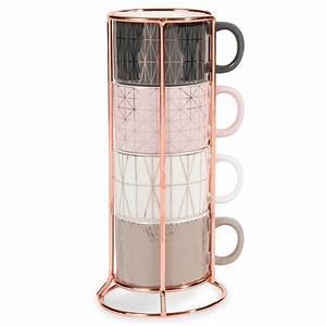 Tasse à Café Maison Du Monde : 4 tasses caf en fa ence support modern copper maisons du monde ~ Teatrodelosmanantiales.com Idées de Décoration