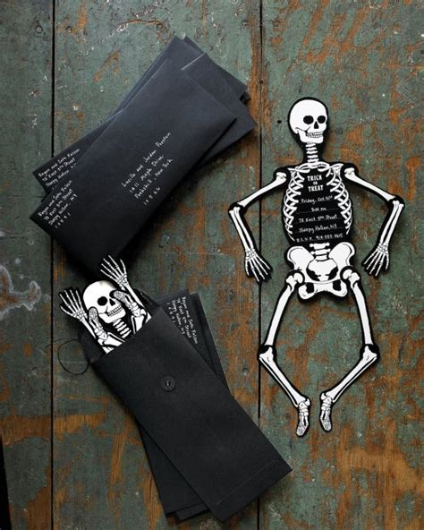skeleton template skeleton invitations step by step diy craft how to s and martha stewart