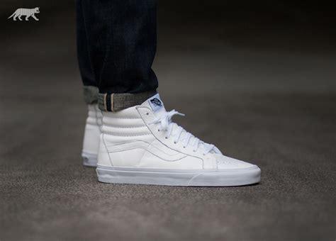 vans sk  reissue premium leather true white