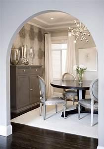 amoroso design lovely elegant gray dining room design With gray dining room paint colors
