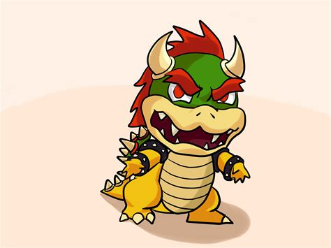 draw bowser  pictures wikihow