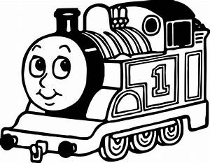 Train Coloring Cartoon One Page Wecoloringpage - grig3.org