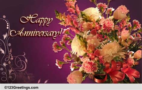 anniversary bouquet    couple ecards greeting cards