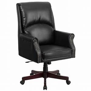 Our, High, Back, Pillow, Back, Black, Leather, Executive, Swivel, Office, Chair, With, Arms, Is, On, Sale, Now