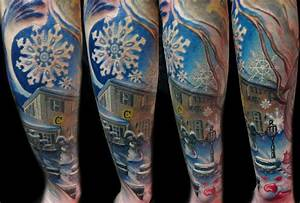 Lovely home of winter tattoo - TattooMagz