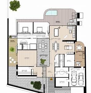 Modernes Haus Grundriss : modernes luxushaus bauen luxusvilla neubau mit flow architektur ~ Orissabook.com Haus und Dekorationen
