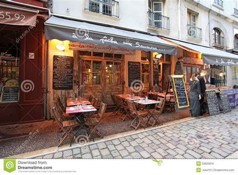 in cuisine lyon restaurant bouchon in lyon editorial stock image