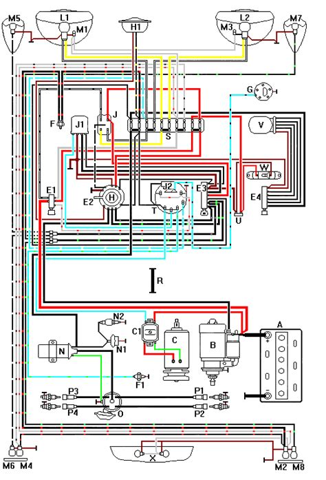 1973 Vw Beetle Light Wiring Diagram Taillight by Thesamba Vw Thing Wiring Diagrams