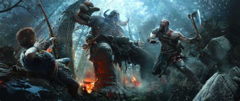 ultra wide video games god  war wallpapers hd